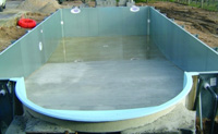 Achat construction piscine en fer structure m tallique for Piscine coque polyester isere